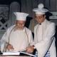 Rav Elio Toaff assieme a Rav Adolfo Aharon Locci